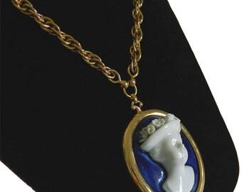 Vintage 1950s Designer Pendant Necklace by Nettie Rosenstein