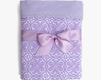 Lavender Baby Blanket - Recieving Blanket Girl - Flannel Baby Blanket - Flannel Crib Blanket - Purple Baby Blankets - Cot Blanket  - Gifts