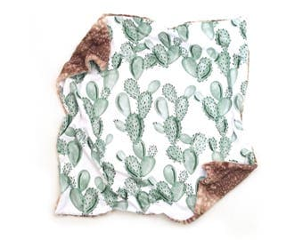 Baby Blanket Green Paddle Cactus. The Cloud Blanket. Fur Baby Blanket. Minky Baby Blanket. Cactus Blanket.