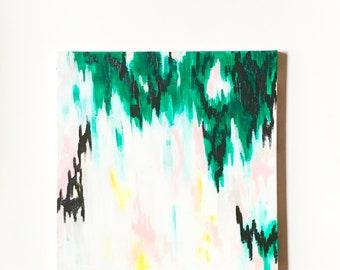 panda painting abstract