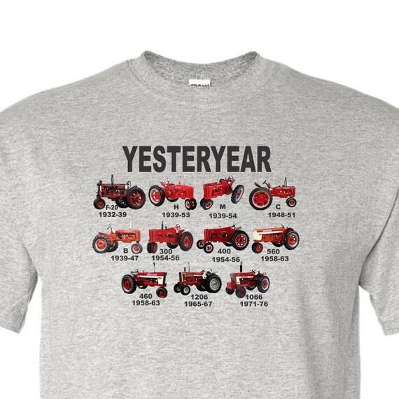 tractor shirt, red tractor shirt, farmall shirt, yesterday shirt, mens shirt, vintage tractor shirt,