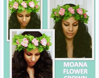Moana Flower Crown, Flower Headband, Floral Crown, Flower Crown, Moana Headband