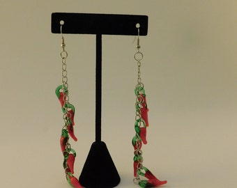 Red Hot Chili Peppers Glass Bead Earrings