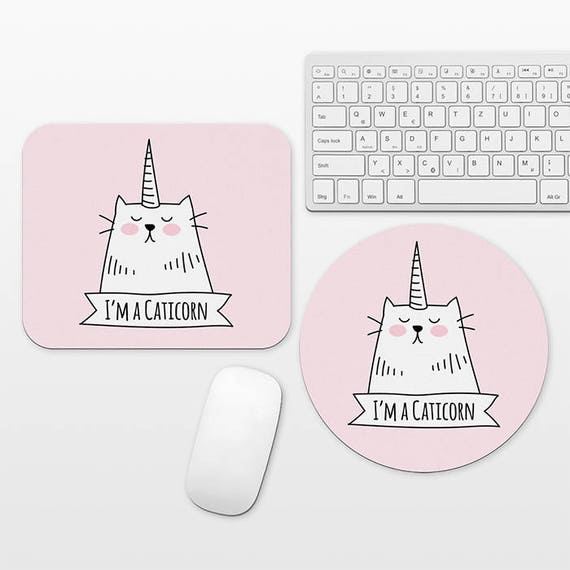 Funny Mouse Pad Caticorn Cat Mouse Pad Unicorn Mouse Pad Funny Mousepad Pink Mouse Pad Cat Mousepad Cute Mousepad Pink Desk Decor Dorm Decor