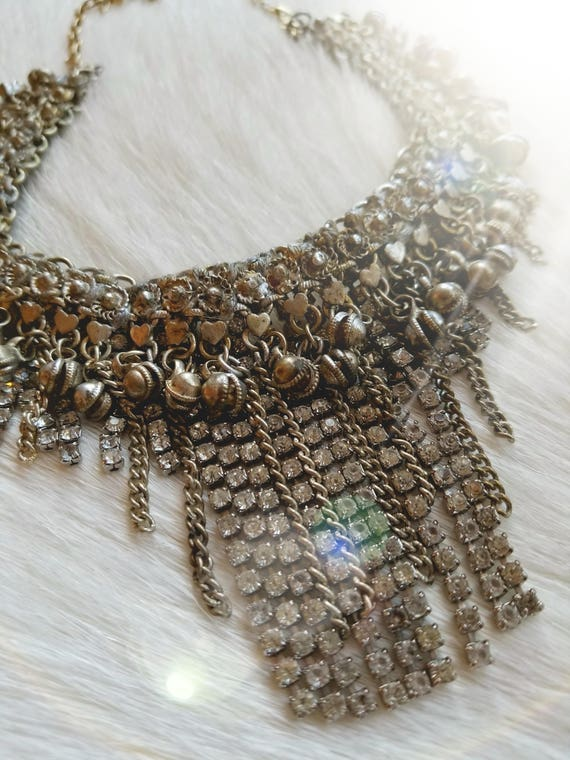 Vintage Bridal Fringe Necklace