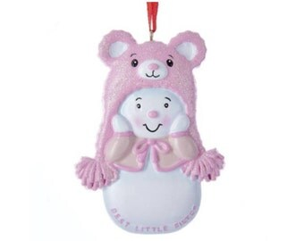 FREE SHIPPING Best Little Sister Personalized Christmas Ornament / Sister Ornament / Snowman / New Baby / Hand Personalized