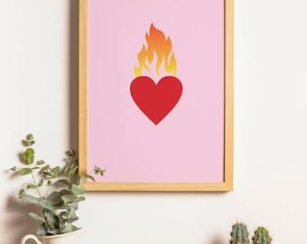 Burning Love Print
