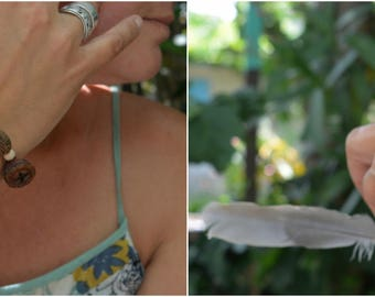 natural seeds bracelet, primitive, tribal bracelet, eucalyptus seed pods bracelet