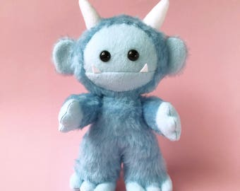 stuffed monster toy - plush monster toy - stuffed animal toy - monster softie - monster plushie - stuffed monster