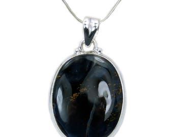 Queen Of The Night Pietersite Necklace Pietersite Pendant 925 Sterling Silver Pendant AF863