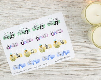 Character Quarter Boxes; Date Night Stickers; Shopping Stickers; Lazy Day Stickers; Erin Condren Compatible Planner Stickers; Happy Planner