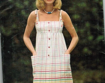 RARE Butterick See and Sew 5815 Misses Dress Size 10
