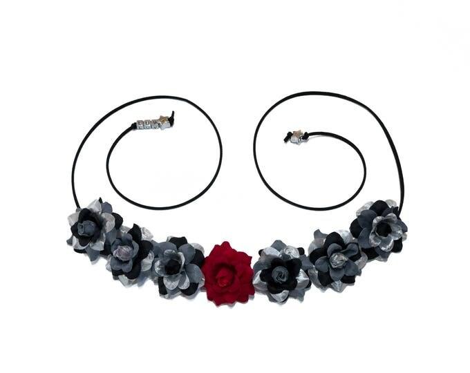 Black Droid Flower Crown