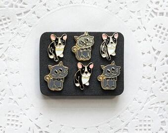 Animal Decorative Pushpins, Thumb Tacks, Dog Pushpin, Cat Thumbtacks, Decorative Push Pins, Pushpins, Thumbtacks, Novelty Pushpins