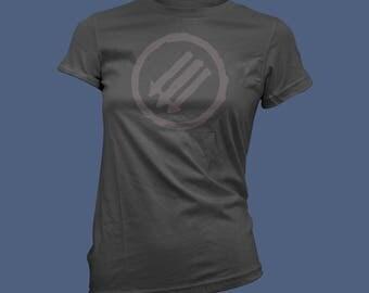 Antifa V-Neck Femme Cut T-Shirt