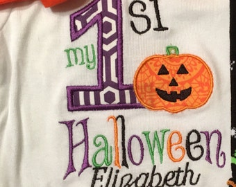 Girl My First Halloween Bodysuit, Girl My 1st Halloween Bodysuit, Girl First Halloween Bodysuit, Girl 1st Halloween Bodysuit