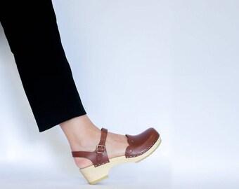 Strap Leather Sandal for Women / Leather Sandals / Womens Sandals / Strap Sandals / Handmade Sandals / Womens Clogs / Sandgrens / Milan