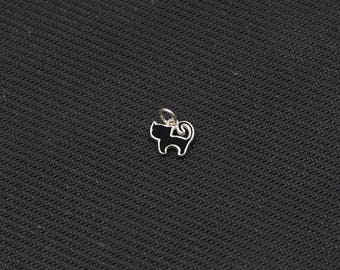 Sterling Silver Small Cat Pendants -- 925 Silver Charms Wholesale For Bridesmaid Gift Party XXSP-Q0013,YHA