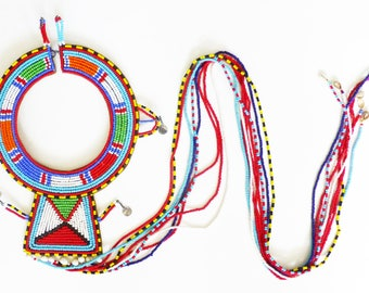 African Maasai Beaded Necklace
