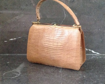 Vintage Purse Hand Bag / Genuine Lizard / by Sterling  USA