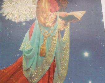 Christmas card Angel unused+env