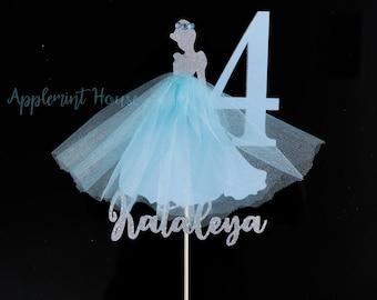 Cinderella Cake topper, Cinderella birthday cake topper,Cinderella cake topper with name,Cinderella cake topper with number