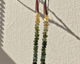 Minimalist Green Tourmaline Earrings / Ready to ship / Made in Australia