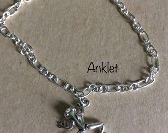 Frog Charm Anklet Bracelet