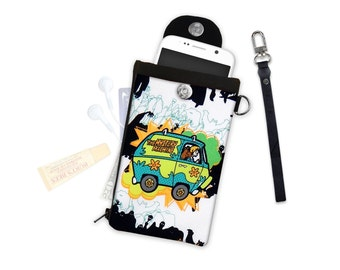 Scooby Doo Mystery Machine Clutch or Crossbody ID Wallet Phone Case Wallet Travel Wallet iPhone Samsung Crossbody Bag Adjustable Strap