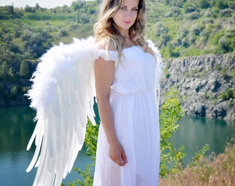Large White Angel Cosplay Wings