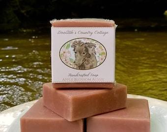 "Soap - ""Apple Blossom Aussie"" - Cold Process, Animal Soap, Gift Soap, Dog Soap, Apple Blossom Soap, Handmade Soap, Australian Shepherd"