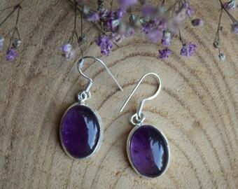 Amethyst Earrings, Sterling Silver Earrings, Gift for women, Boho Earrings, Handmade Jewelry, Gemstone Earrings, Delicate Earrings, Amethyst
