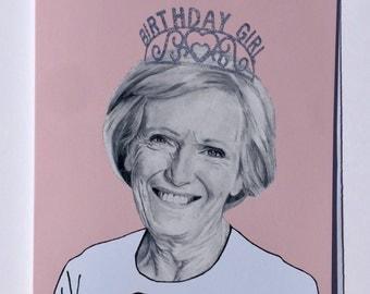 Mary Berry Illustrative A5 Birthday Card