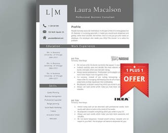 Professional Resume Template | Creative Resume Template | Professional CV Template | Modern Template | Easy to Edit