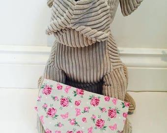 Dog Bandana, Beige and rose bandana, bandana for dogs.