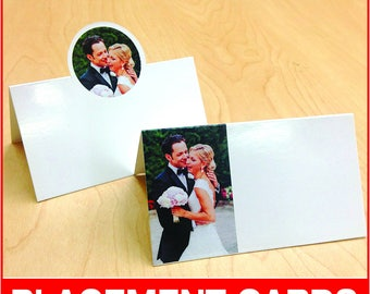 Photo Placement Cards, diecut, full color