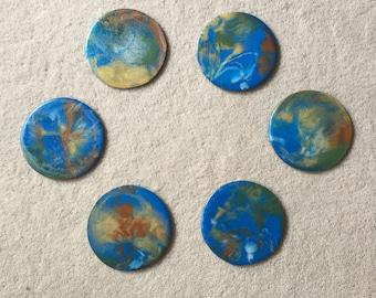 Rockpools [Resin coaster set of six]