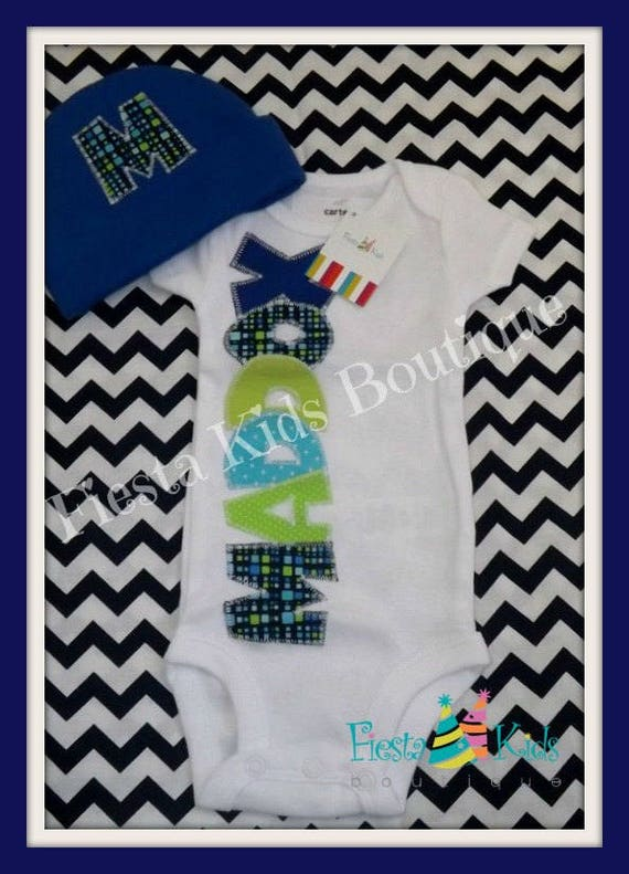 Boy coming home outfit newborn clothes boys personalized baby il570xn negle Image collections