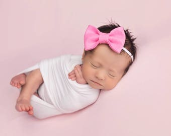 Baby Headbands, Baby Bows, Newborn Headband, Girls Hair Bows, Baby Girl Headband, Felt Headband, Newborn Girl, Girls Headband, Bow