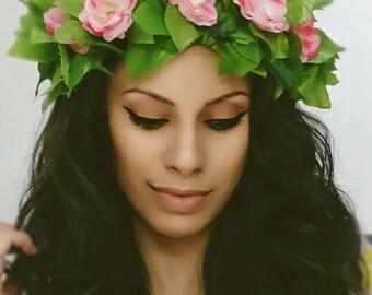Moana Headband, Flower Crown, Floral Crown, Moana Flower Crown, Moana Crown
