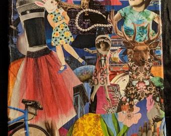 "Handmade Collage Wall Art ""Shindig"""