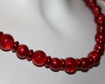 Red pearl necklace, red pearl jewelry, red beaded jewelry, red beaded necklace, necklace red pearl, jewelry red pearl, red beaded, red pearl