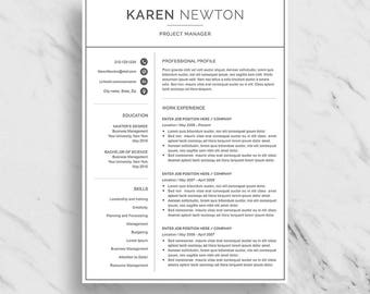 modern resume template for word minimalist resume design 2 page resume download simple - Minimalist Resume Template