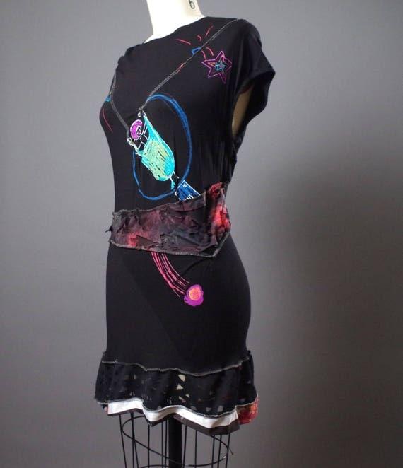 OOAK Dress Tunic - Eco friendly Clothing - Funky - Street Wear - Designer Clothing - One of a kind - Tunic dress