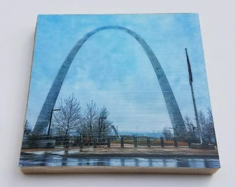 Gateway Arch Waterproof Ceramic Coaster