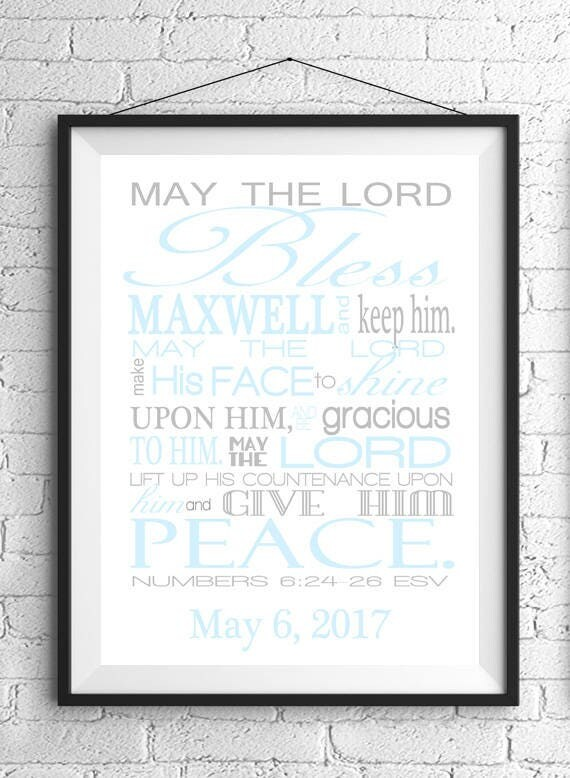 May The Lord Bless You Bible Verse Wall Art Numbers 6 24 26