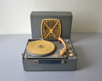 Vintage Turntable GID / phonograph player for vinyl record 78t 45t 33t / mid century decor 50s