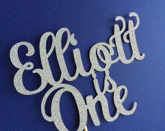 Personalised cake topper - Name is Age - Betty Style