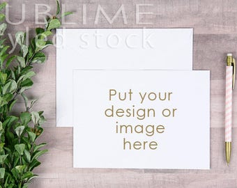 Card Mock up / Styled Stock Photography / Stationery / Mock up / Card and envelope / Blank Card / Blank Envelope / StockStyle-890