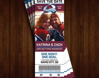 Colorado Avalanche Save the Date Ticket
